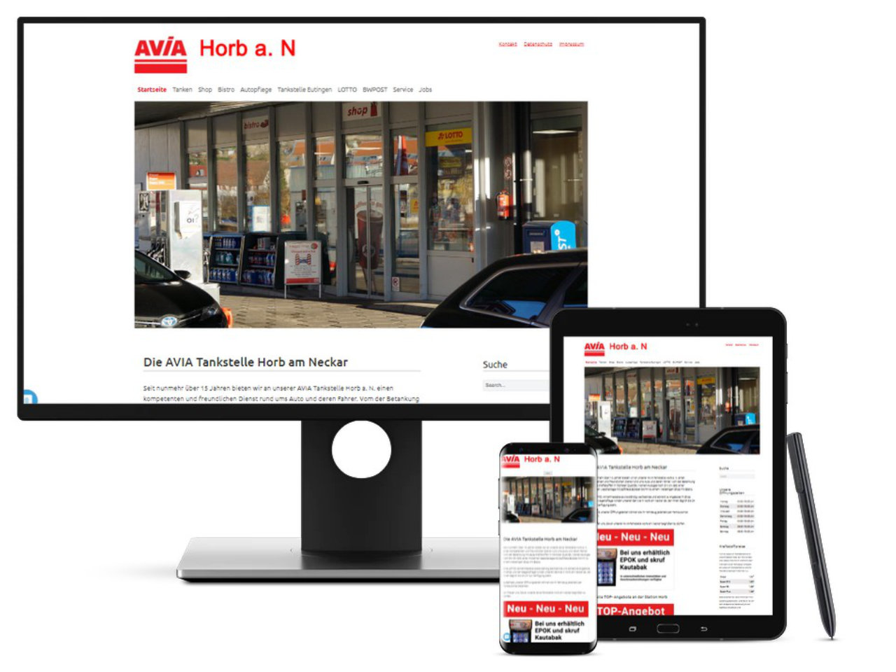 Homepage AVIA-Tankstelle Horb/Eutingen