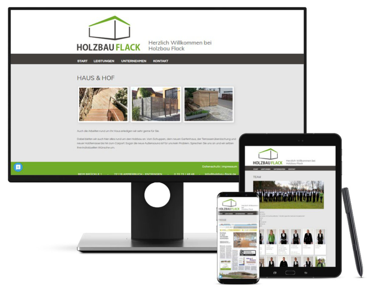 Homepage Holzbau Flack