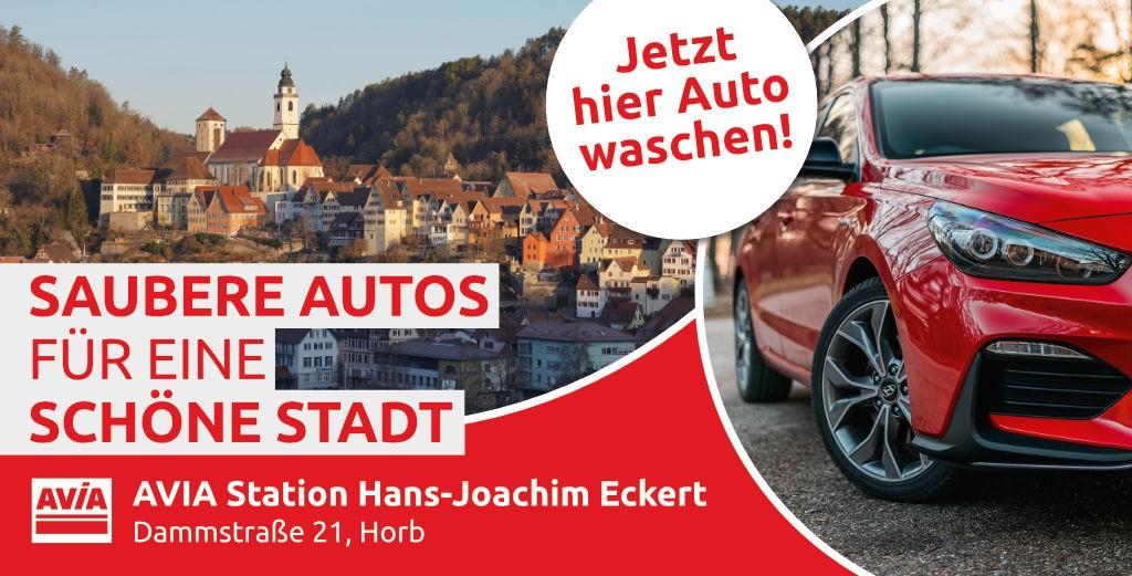 """Huzel IT service & design - Mesh Spannbanner Baustellenzaun (340 - 173cm) - AVIA-Horb """"Saubere Autos für eine schöne Stadt"""""""