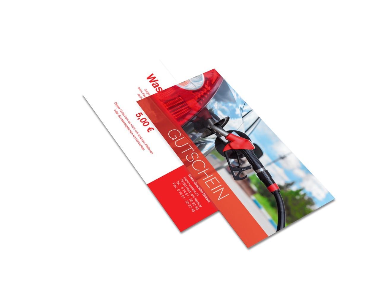 Huzel IT service & design - Gutscheinkarte AVIA Horb